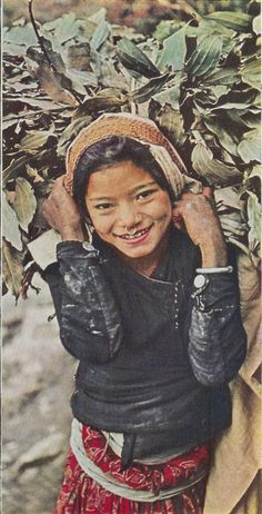 Nepalese girl, 1960 (vintage national geographic scans)