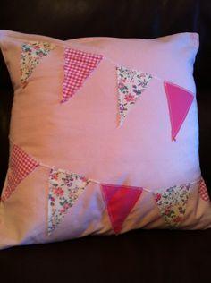 Handmade Applique Bunting Cushion