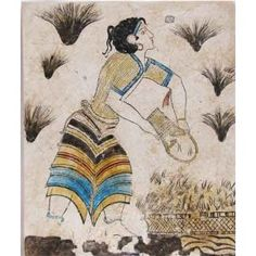 Minoan fresco tile: saffron-gatherer | by It's All Greek with Pin-It-Button on http://www.amazon.co.uk/Minoan-fresco-tile-saffron-gatherer-3/dp/B005602W0A