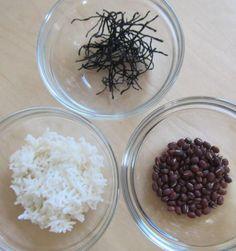 Reis, Azukibohnen und Algen leiten Schleim aus