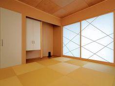 現代のスタイルに合うモダンな和室 Japanese Modern, Japanese Design, Tatami Room, Japan Interior, Empty Room, Divider, Graphics, Furniture, Home Decor