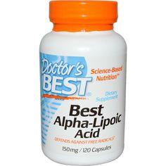 Doctor's Best, Best Alpha Lipoic Acid, 150 mg, 120 Capsules - iHerb.com