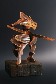 Samurai warrior Ronin TECHNIQUE - welded bronze