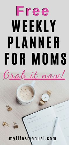 Now you can organize your busy week! Grab the Free Weekly Planner Printables for moms to help you manage your goals, menu, and .