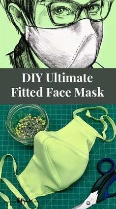 Easy Face Masks, Diy Face Mask, Sewing Patterns Free, Free Pattern, Clothes Patterns, Costura Diy, Diy Masque, Mask Making, Mask Design