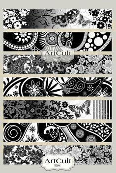 Printable inch size images ART STRIPS for bracelets cuffs, bookmarks, magnets, scrapbooking paper Digital Collage Sheet ArtCult - - Samoan Tattoo, Arm Tattoo, Body Art Tattoos, Tattoo Drawings, Tribal Tattoos, Maori Tattoos, Armband Tattoos, Armband Tattoo Design, Sleeve Tattoos