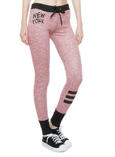 Rainbow New York Graphic Drawstring Sweatpants With Striped Leg Sweat It Out, Rainbow Shop, Sweatpants, New York, Legs, Stylish, Shopping, Fashion, Moda