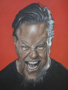 "CARICATURAS DE FAMOSOS: ""James Hetfield"" por Christian Stellner"