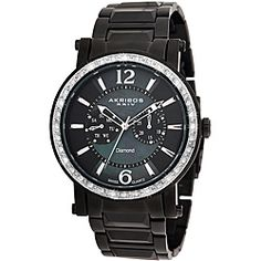 @Overstock - This Akribos XXIV stainless steel ion-plated watch with day/date display is a great addition to your collection with its remarkable diamond dial design. This elegant timepiece is powered by a fine Swiss ISA 9231/1890 quartz movement.http://www.overstock.com/Jewelry-Watches/Akribos-XXIV-Mens-Stainless-Steel-Swiss-Diamond-Watch/5217572/product.html?CID=214117 $130.15