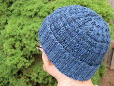 Waffle hat knitting pattern... Free...