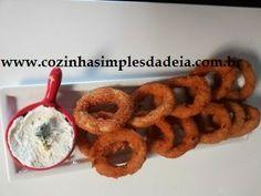 Cozinha Simples da Deia: Anéis de cebola empanados