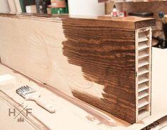 DIY IKEA Hack - Lack Regal in Echtholzregal verwandeln
