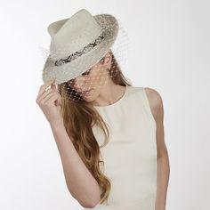 1c837e7e0ba0e Couture Hats. Wedding Hats For GuestsAscot HatsSs 2017Panama  HatVeilBespokeVeilsPanama. JCM Panama with Veil - Jess Collett Milliner ...
