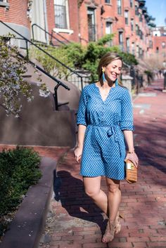 Chambray dress for spring and summer