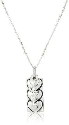 'I Love You More' Heart Charm and Pendant Reversible Necklace, 18' ** Want to know more, click on the image.