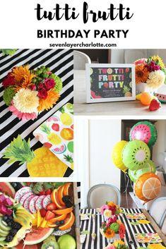 Tutti Frutti Girls Birthday Party 2yr Old BirthdayBaby Girl Birthday2 Year