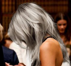 Silver grey hair #fashion #colours #hair
