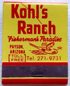 Kohl's Ranch, Payson AZ - To design & order your business' own logo #matches GoTo GetMatches.com