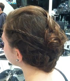 Messy UPDO for prom