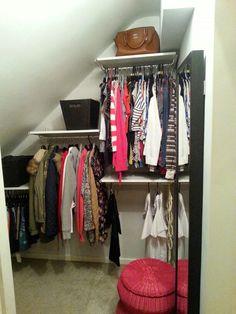 Ikeas Algot system. Hannahs wardobe finally completed. Neat x tidy! Really pleased.