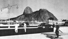 Praia de Botafogo, em Botafogo/RJ - 1954