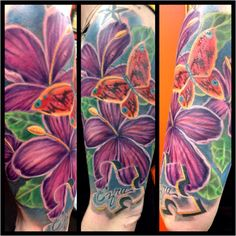 Autism tattoo I worked on today , one more sitting to clean up some looseness ! Thanks Sarah !