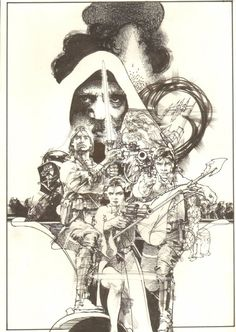 Anthony's Comic Book Art :: For Sale Artwork :: Star Wars Movie Poster/Cover-like Commission - Everyone! - Signed 2004by artist Tony DeZuniga