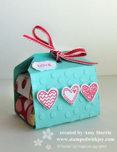 Angled Tag Topper Punch Valentine Treat Amy Storrie, stampedwithjoy.com