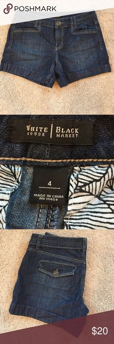 WHBM jean shorts Adorable jean shorts in EUC White House Black Market Shorts Jean Shorts