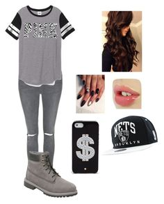 """"""" game night"""" by queenlu on Polyvore featuring Topshop, Victoria's Secret PINK, Timberland, Marvel Comics and Kate Spade"""