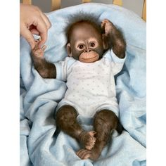 Ashton Drake So Truly Real Baby Zachary Baby Monkey Doll Simian Orangutan | eBay