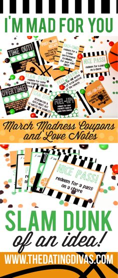 Free March Madness Love Coupons and Notes