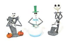 A bobble head you'll be happy to fear. It's Jack Skellington from The Nightmare Before Christmas! He makes a great gift! This 3-pack set contains 3 unique mini bobble heads. Designs include Jack Skellington with Zero and tombstone, Snowman Jack with green top hat, and Jack Skellington... more details available at https://perfect-gifts.bestselleroutlets.com/gifts-for-holidays/toys-games/product-review-for-neca-nightmare-before-christmas-inches-jack-inches-styles-head