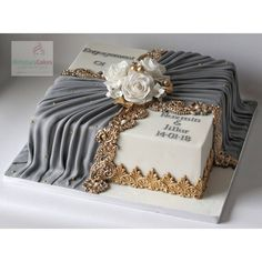 Engagement cake, still classy enough for any special occasion! Engagement cake, still classy enough for any special occasion! Unique Cakes, Elegant Cakes, Gorgeous Cakes, Pretty Cakes, Fondant Cakes, Cupcake Cakes, Cupcakes, Luxury Wedding Cake, Wedding Cakes