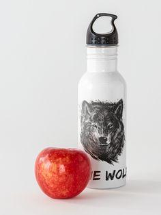 """""""Lone Wolf"""" Water Bottle by Joshua1870   Redbubble Lone Wolf, Lonely, Water Bottle, One Man Wolf Pack, Water Flask"""
