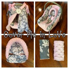 Hey, I found this really awesome Etsy listing at https://www.etsy.com/listing/232248699/grey-damask-and-pink-minky-car-seat