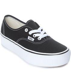 5ec104433de New Vans Authentic Platform Black  amp  White Skate Shoes Men s Sz 7.5  Wmn s Sz 9