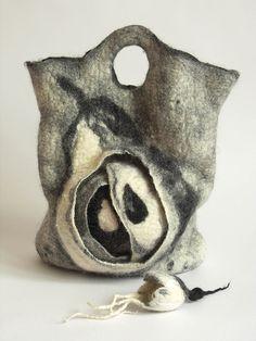 Felt bag 'Pear' by lolkins_marusya