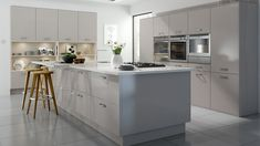 Technica Gloss Cashmere - Our Kitchens - Chippendale Kitchens  Shop: Jacksons of Petersfield Benefit of gloss finish over painted is that its more hardwearing. Wooden doors would need repainting every few years