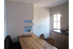 Interieurarchitect Anne Carien paste de Flexa Creations kleur Fresh Linen toe in een door haar ontworpen keuken