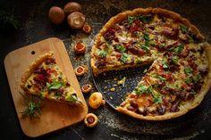 Marmolada: Tarta z Grzybami, rozmarynem i serem gorgonzola.