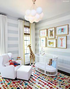 Gender neutral nursery with striped walls Nursery Themes, Nursery Room, Nursery Decor, Nursery Ideas, Room Ideas, Safari Nursery, Elephant Nursery, Child's Room, Kids Bedroom