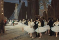 Les Coulisses de l'Opéra, 1889 by Jean Béroud (French 1849-1935)