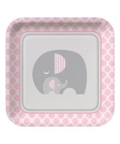 Feed your hungry herd on Blue Baby Elephant Lunch Plates. These square baby shower plates feature a print of a mama and baby elephant snuggling. Baby Shower Plates, Baby Shower Favors Girl, Baby Shower Themes, Shower Ideas, Peanut Baby Shower, Baby Elefant, Party Set, Safari Theme, Pink
