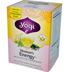 Yogi Tea, Woman's Energy, Caffeine Free, 16 Tea Bags, 1.02 oz (29 g) - iHerb.com