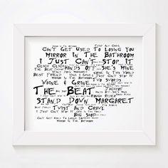 Noir Paranoiac 18 x 12 inches Jimi Hendrix Art Studio Lyrics Poster