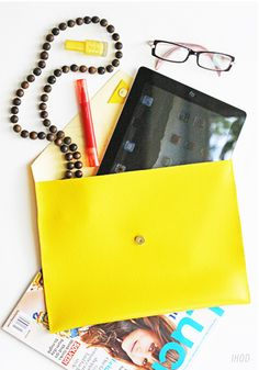 DIY:cute leather clutch