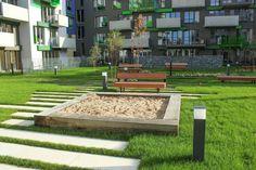Residential complex 4Blok in Prague landscape design by  Šmídová Landscape Architects www.smidova-la.com