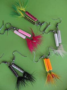 Earrings I make from fishing lures!