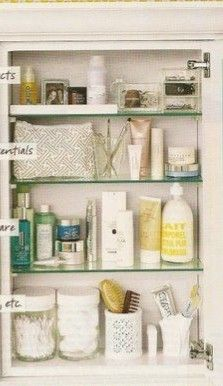 What The Shelves In The Medicine Cabinet Needs To Look Like Part 2
